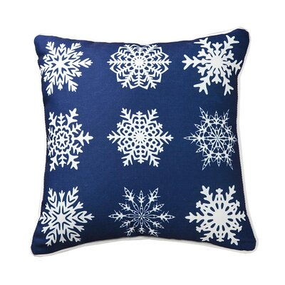 Lava Snowflakes in A Row Pillow