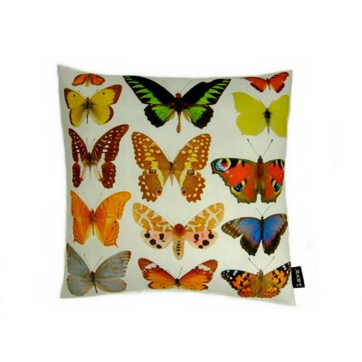 lava Butterfly Row Polyester Pillow