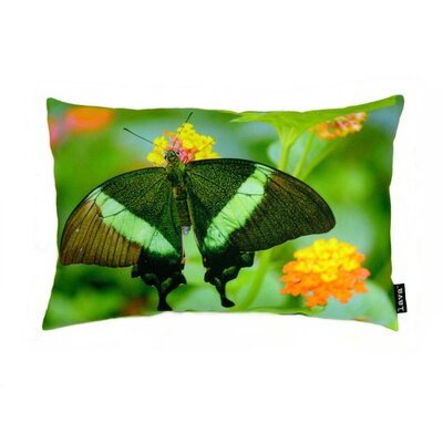 lava Butterfly on Bush Polyester Pillow
