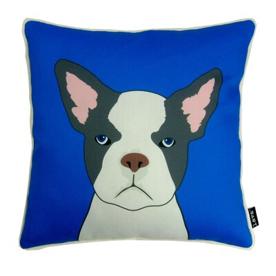 lava French Bulldog Polyester Pillow
