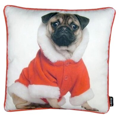 Holiday Pug with Jacket Pillow