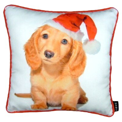 lava Holiday Blond Daschund Pillow