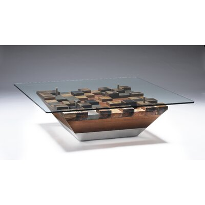 Oggetti Cubes Cocktail Table with Glass Top