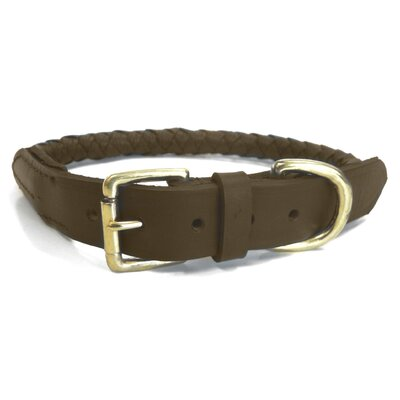 Signature Quality Braided Genuine Leather Dog Collar