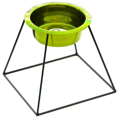 Platinum Pets Pyramid Diner with Wide Rimmed Embossed Bowl