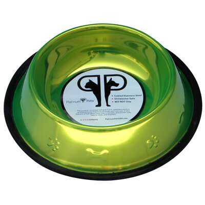 Platinum Pets Embossed Dog Bowl in Corona Lime