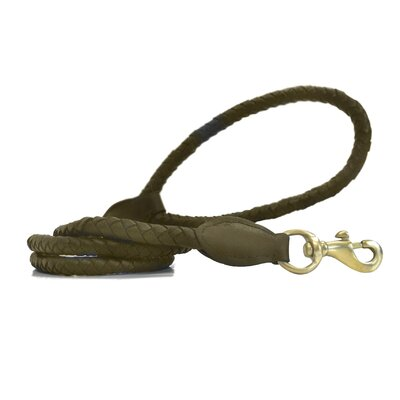 Platinum Pets Long Signature Quality Braided Genuine Leather Dog Lead