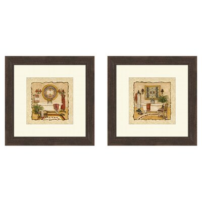 Bath Art Deco Bath Framed Art (Set of 2)