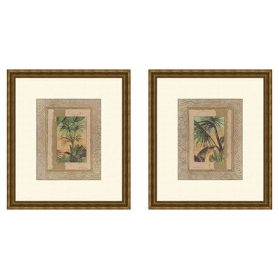 Coastal Beyond Palms Framed Art (Set of 2)