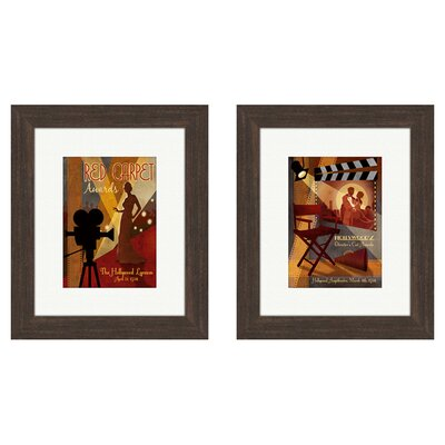 <strong>Pro Tour Memorabilia</strong> Vintage Red Carpet Awards Framed Art (Set of 2)
