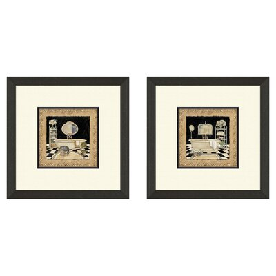 <strong>Pro Tour Memorabilia</strong> Bath Maison Bath Framed Art (Set of 2)