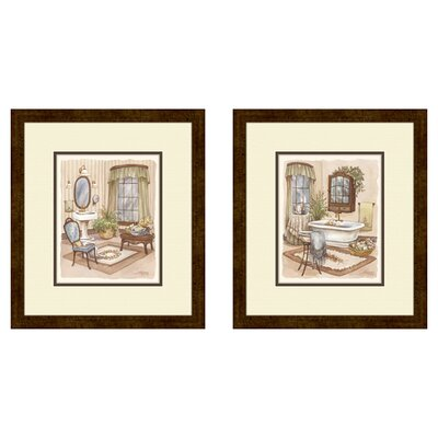 <strong>Pro Tour Memorabilia</strong> Bath Sage Bath Framed Art (Set of 2)