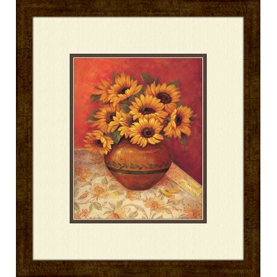 Tuscan Sunflowers B Framed Art