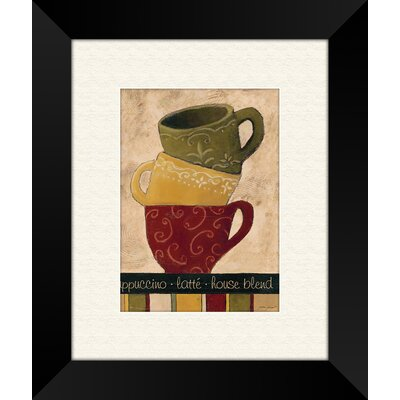Striped Stack B Framed Art