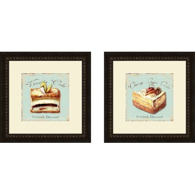 Pro Tour Memorabilia Kitchen Vanilla Cake Framed Art (Set of 2)