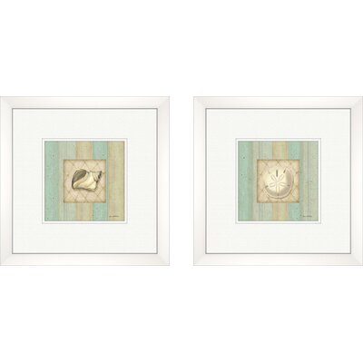 Pro Tour Memorabilia Coastal Conch Framed Art (Set of 2)