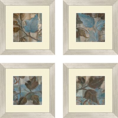 Pro Tour Memorabilia Botanical Perfect Match Framed Art (Set of 4)