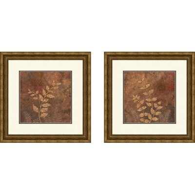 Pro Tour Memorabilia Botanical Evening Forest Framed Art (Set of 2)