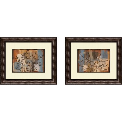 Pro Tour Memorabilia Botanical Abstract Intention Framed Art (Set of 2)