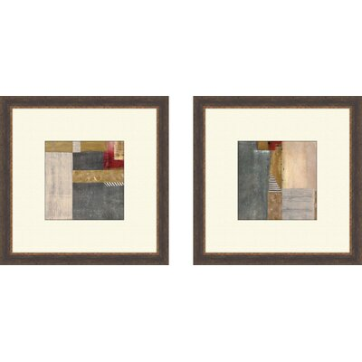 Pro Tour Memorabilia Contemporary Blue Jeans Framed Art (Set of 2)