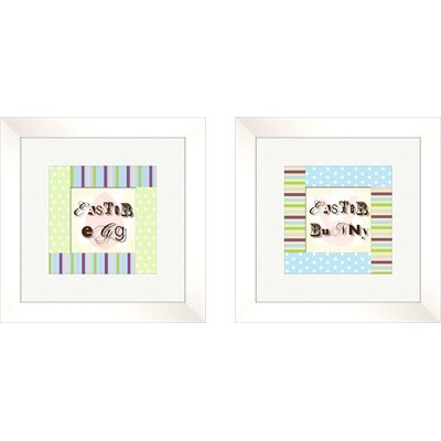 Pro Tour Memorabilia Juvenile Polka Dots Framed Art (Set of 2)