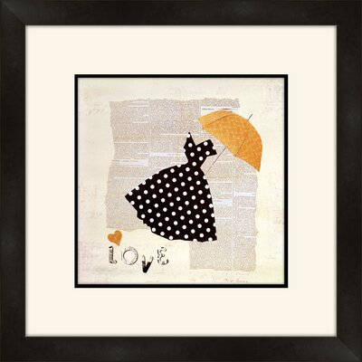 Dress and Umbrella Framed Graphic Art