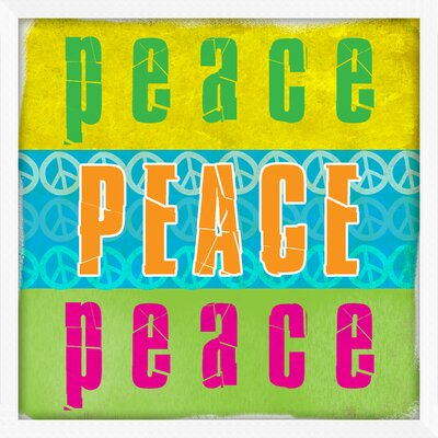 Pro Tour Memorabilia Peace and Love Framed Wall Art (Set of 2)