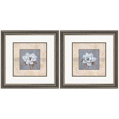 Pro Tour Memorabilia Floral Summerscent Framed Art (Set of 2)