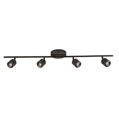 AFX LED 4 Light Fixed Rail with 4 Heads Fixed Track