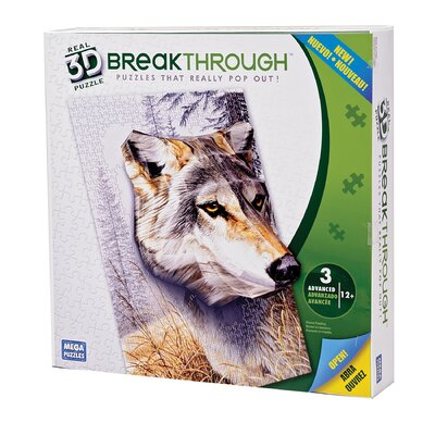 300 Piece 3D Breakthrough Wolf Puzzle