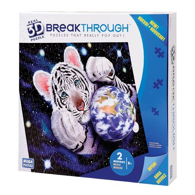 Mega Brands 200 Piece 3D Breakthrough Tiger Puzzle