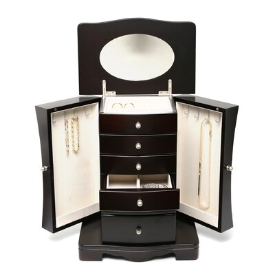 Seya Inc. Espresso Contemporary Jewelry Box
