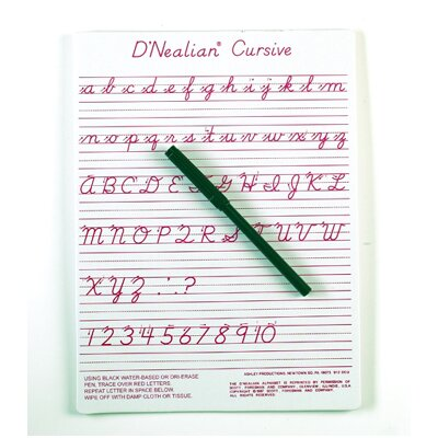 "Ashley Productions Inc Dnealian Cursive Write-on / Wipe-off 1' x 9"" Whiteboard"