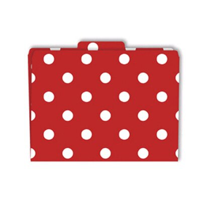 Barker Creek & Lasting Lessons File Folders Red & White Dots
