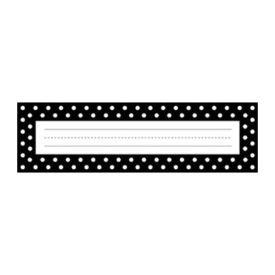 Barker Creek & Lasting Lessons Remember Me Desk Tags Black Dots