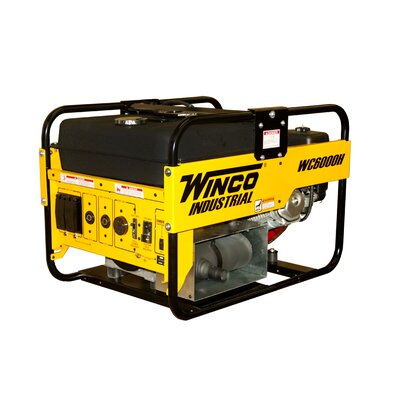 Industrial Series 6,000 Watt Portable Gas Generator - WC6000H
