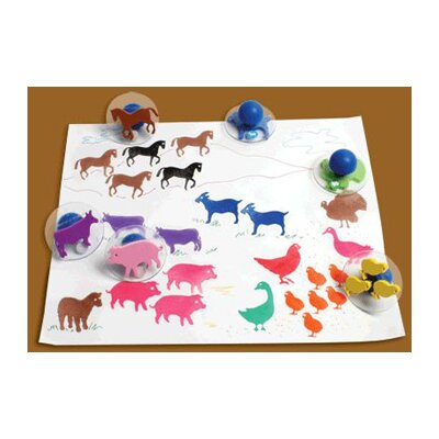 Center Enterprises Inc Ready2learn Giant Farm Animals (Set of 10)