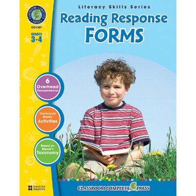 Classroom Complete Press Reading Response Forms Grs 3-4