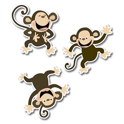 Creative Teaching Press Monkeys Jumbo Cut Outs
