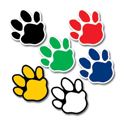 Creative Teaching Press Paw Prints Mini Cut Outs