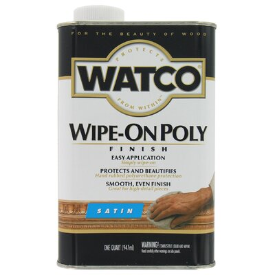Watco 1 Quart Satin Wipe On Poly