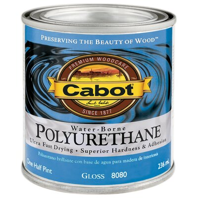 CabotStain 1/2 Pint Gloss Interior Water-Borne Polyurethane 144-8080 HP