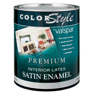 Valspar 1 Quart Clear Base ColorStyle® Interior Latex Satin Enamel Wall Pa