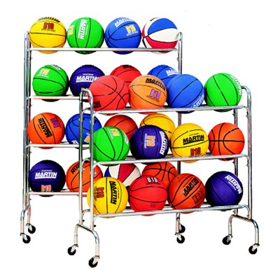 Dick Martin Sports Portable Ball Rack Holds 12-3 Tiers