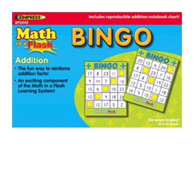 Edupress Math In A Flash Bingo Subtraction