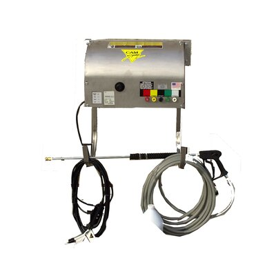 1000 PSI Cold Water Electric Wall Mount Pressure Washer with Electric Cut-Out Thermal Relief