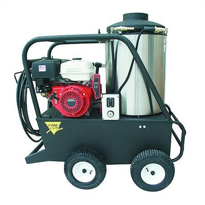 Q Series 3000 PSI Hot Water Gas Pressure Washer with 13 HP Honda Electric Start ...