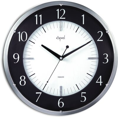 Opal Luxury Time Products Opal Dial Clock in Black and White