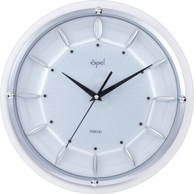 Opal Dome Glass Clock in Silver