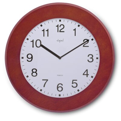 Opal Slim Wooden Clock in Dark Brown